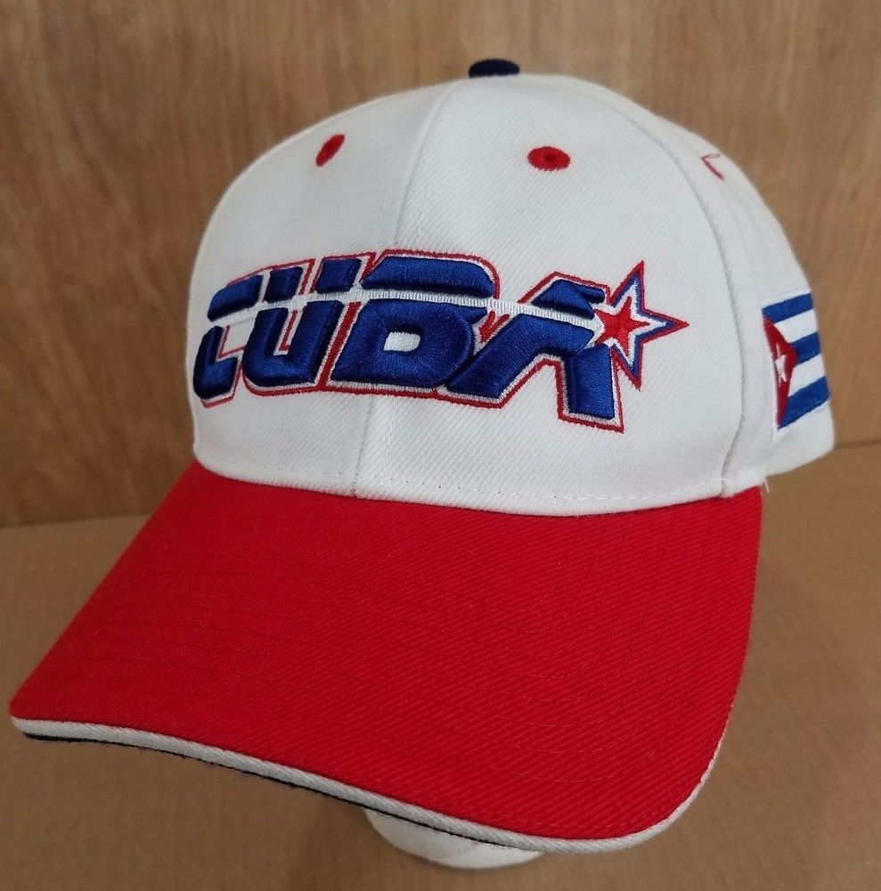 777d2629056f8 IMAGEN CUBA Official Baseball Hat White Blue Red Flag Logo Adjustable  DARING Cap  Daring  BaseballCap