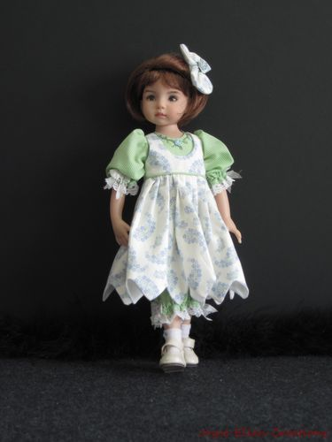 "Blue Green Set Handmade OOAK for 13"" Effner Little Darling 14""Kish BJD by JEC   eBay"