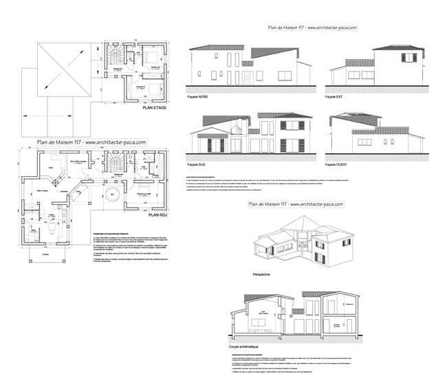 Plan D Architecte Maison Great Maison De Plainpied With Plan D