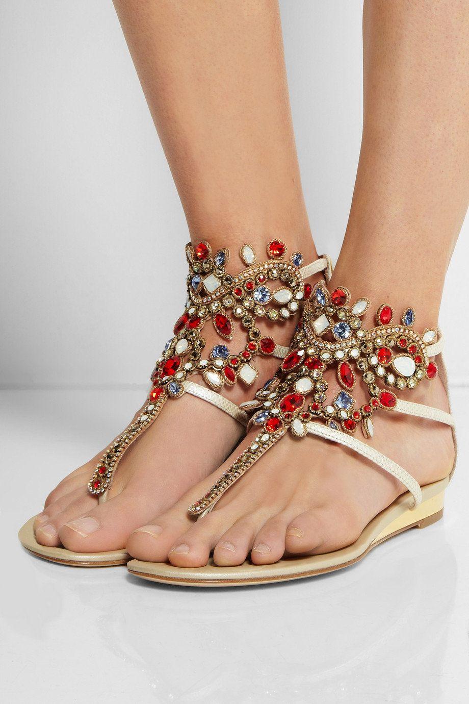 Lizard Skin sandals Spring/summer Rene Caovilla ju0YqrRa