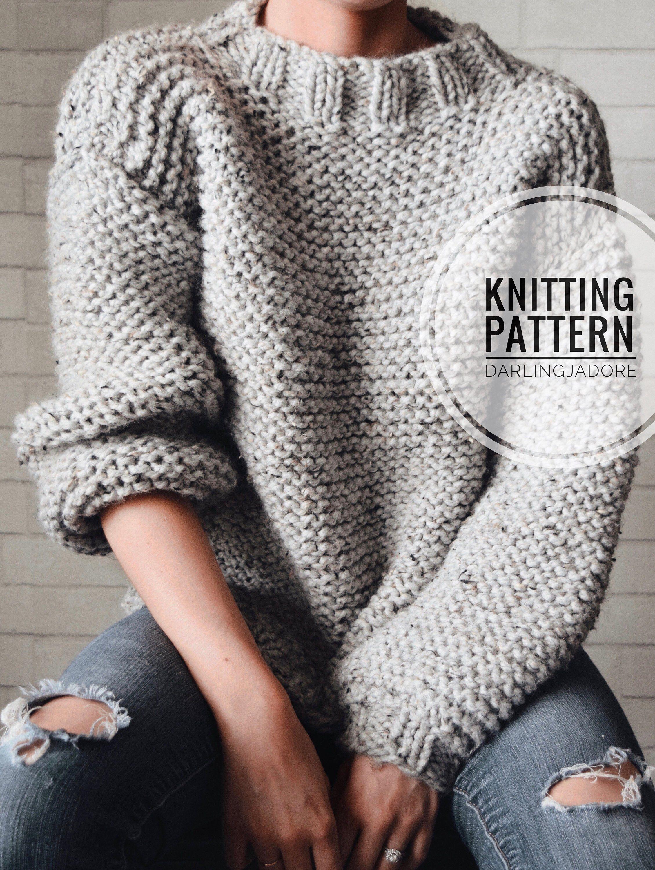 Photo of KNITTING PATTERN ⨯ Chunky Knit Sweater Pattern, Bulky Sweater Knitting Pattern ⨯ Easy Jumper …