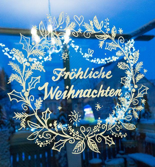 Vorlagenmappe Fensterdeko - Fröhliche Weihnachten von Bine
