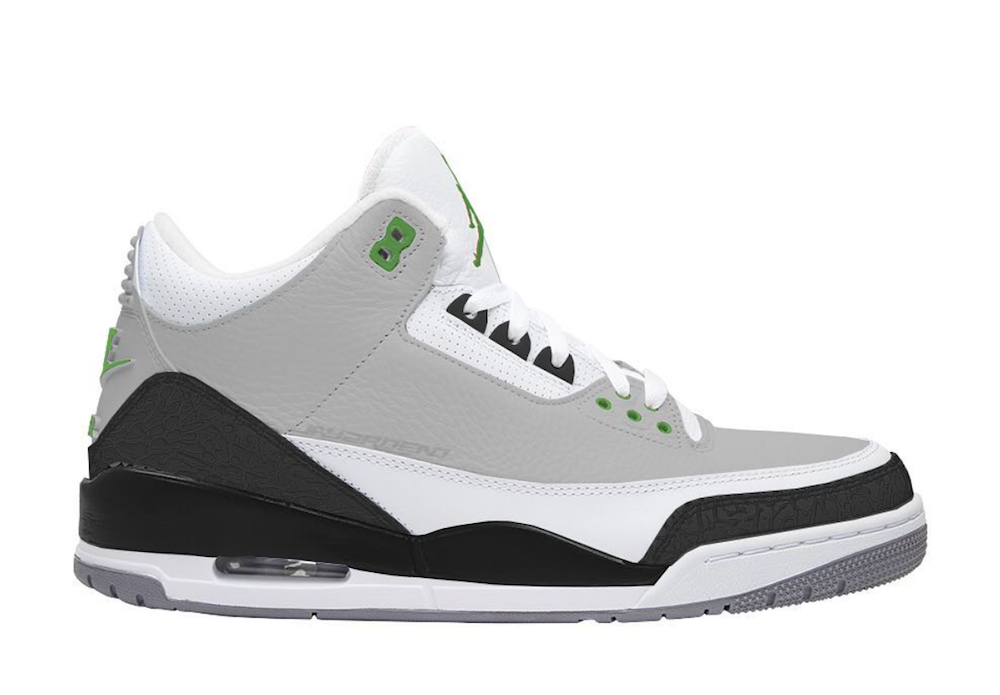 Air Jordan 3 Chlorophyll Tinker 136064
