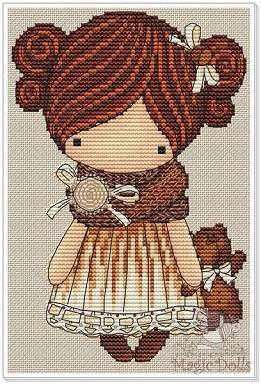 Magic Dolls Aprender manualidades es facilisimocom Cross stitch