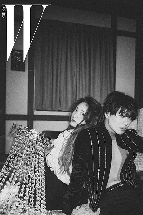 SHINee member Taemin and f(x) member Krystal in W Korea