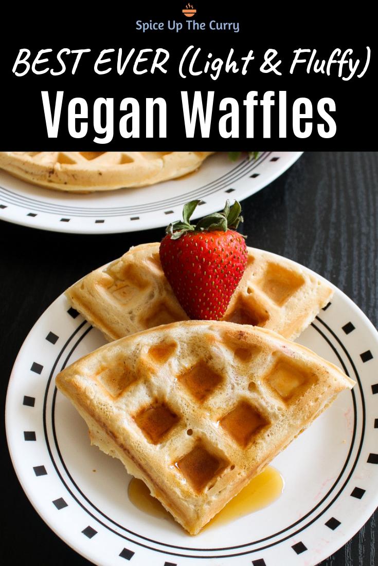 Eggless Waffle Recipe Vegan Waffles Recipe Waffle Recipes Vegan Baking Dessert Eggless Waffle Recipe