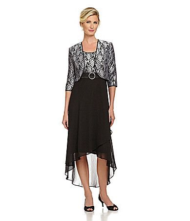 Le Bos 2piece Metallic Lace Jacket Dress Dillards