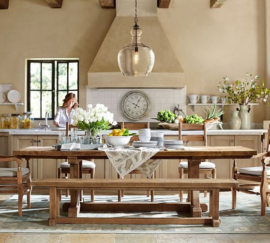 Kitchen Styles Quiz: Stafford Reclaimed Pine Extending Dining Table At Pottery