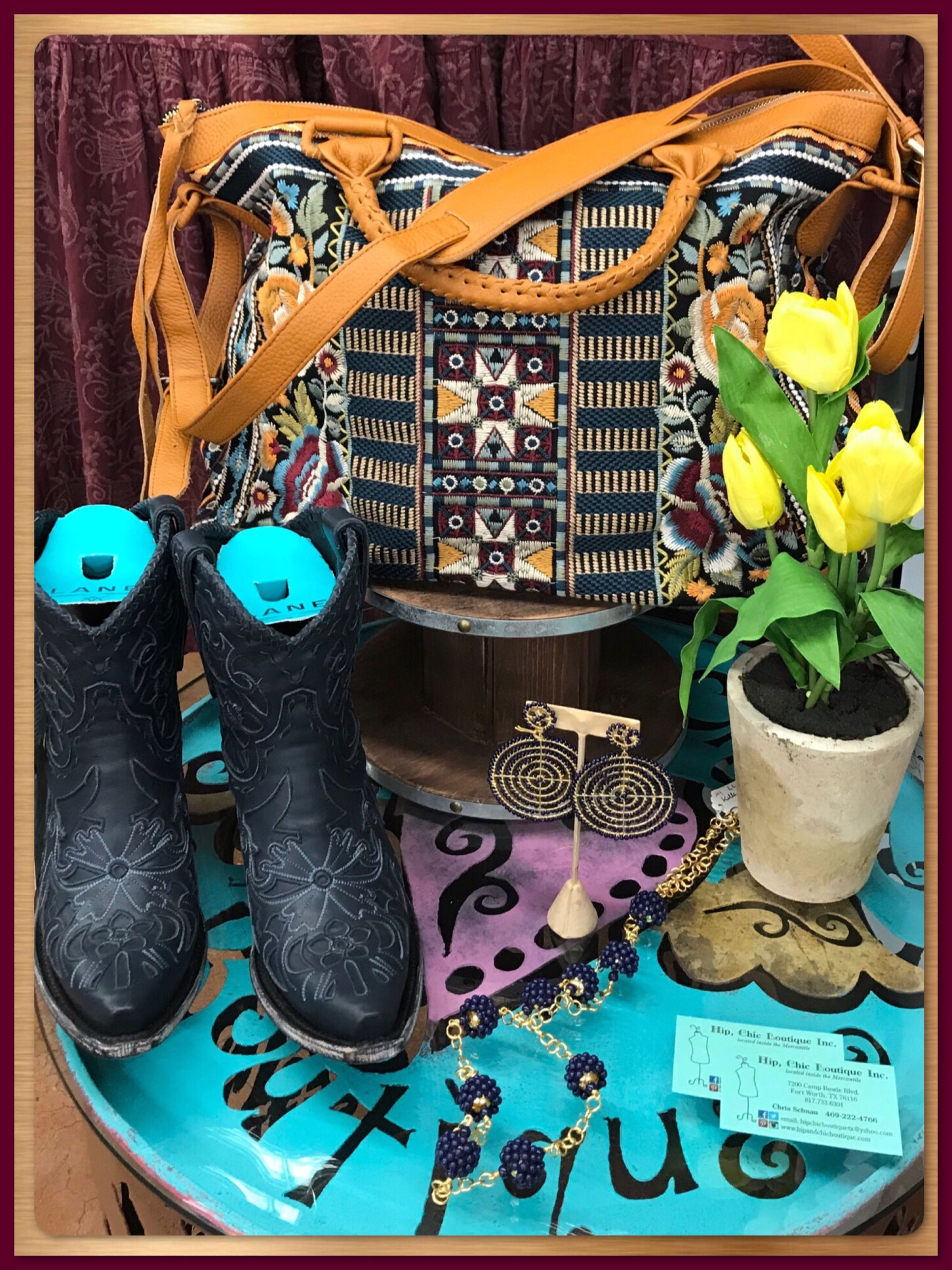 Perfect additions to your Fall Wardrobe Lane Boots u Johnny Was Tote