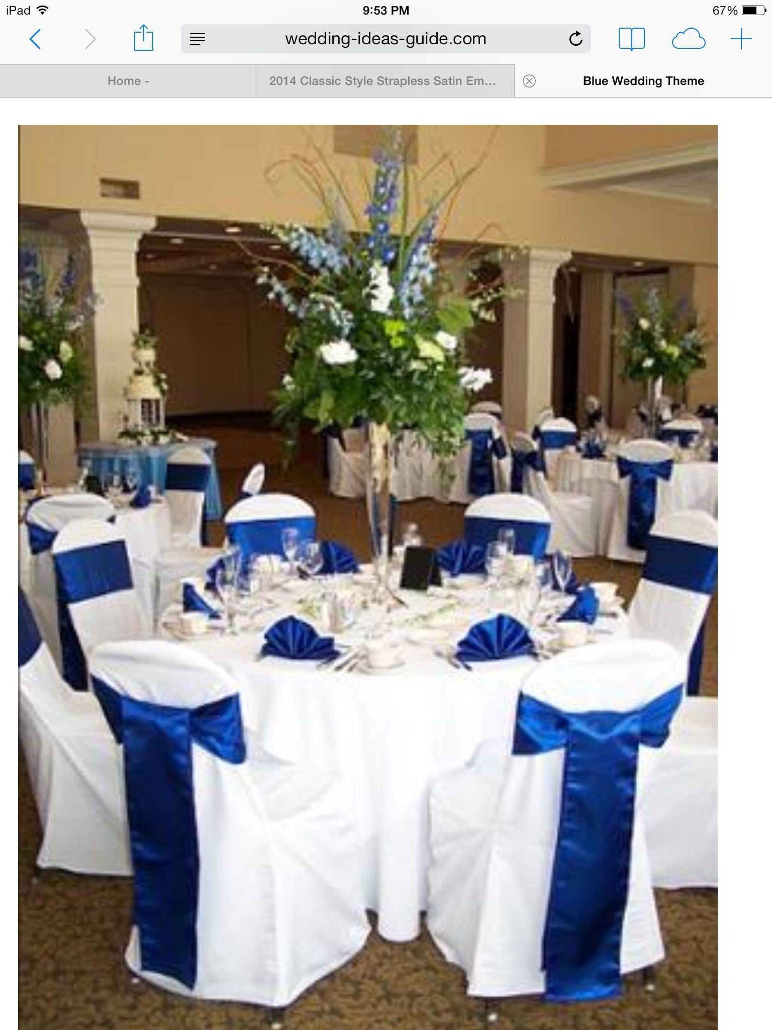 Royal blue wedding ideas pinterest royal blue for Blue wedding reception ideas