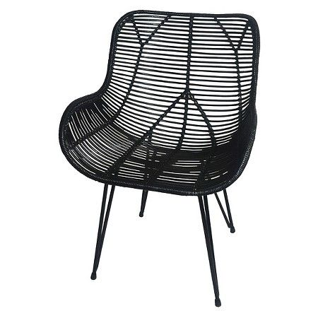Fantastic Wicker Accent Chair Black Threshold Target Cheap Ncnpc Chair Design For Home Ncnpcorg