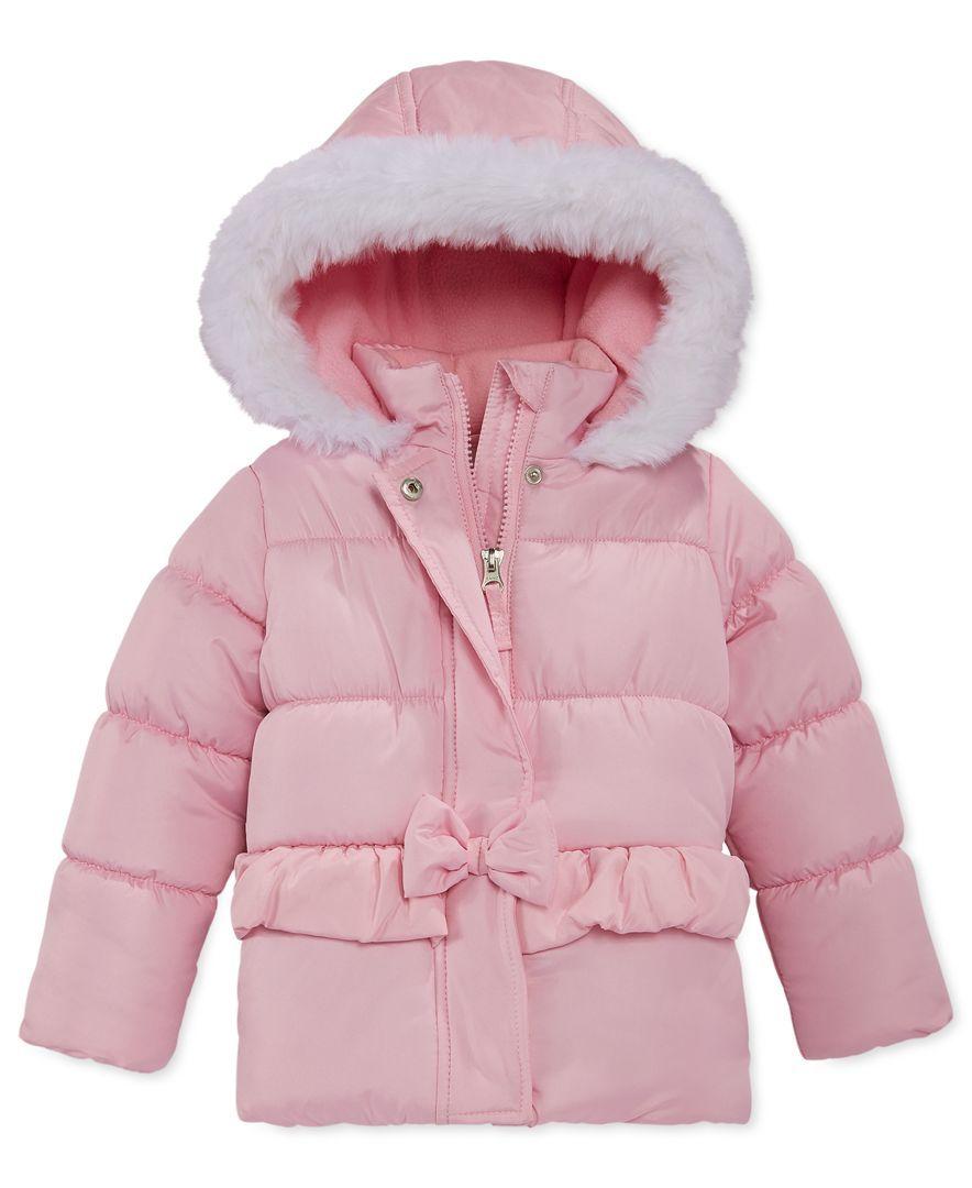 Hawke & Co. Baby Girls' Pink Bubble Jacket   Girls / Outerwear ...