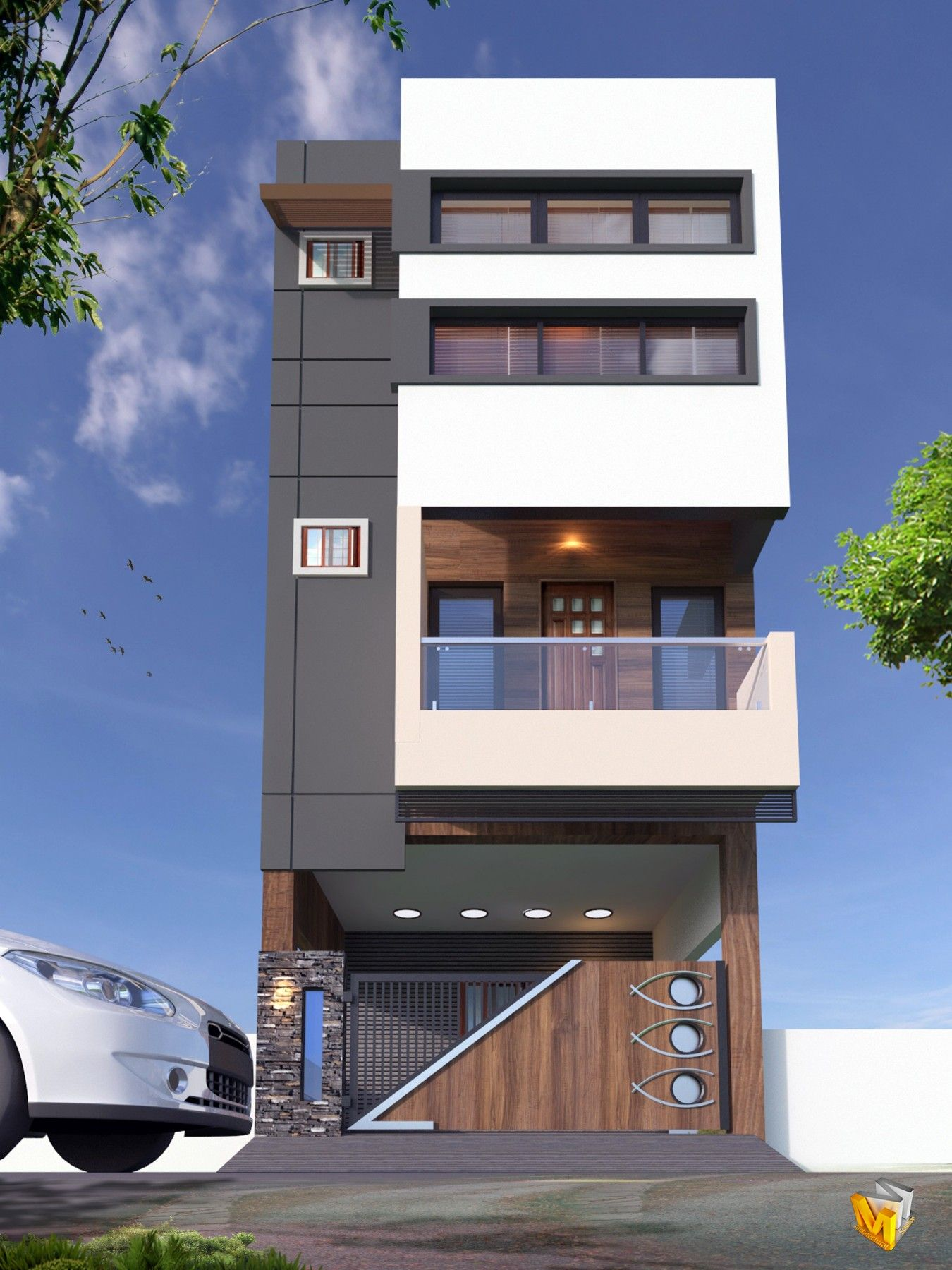 Pin by spacemek on architecture elevation in house design front also rh pinterest