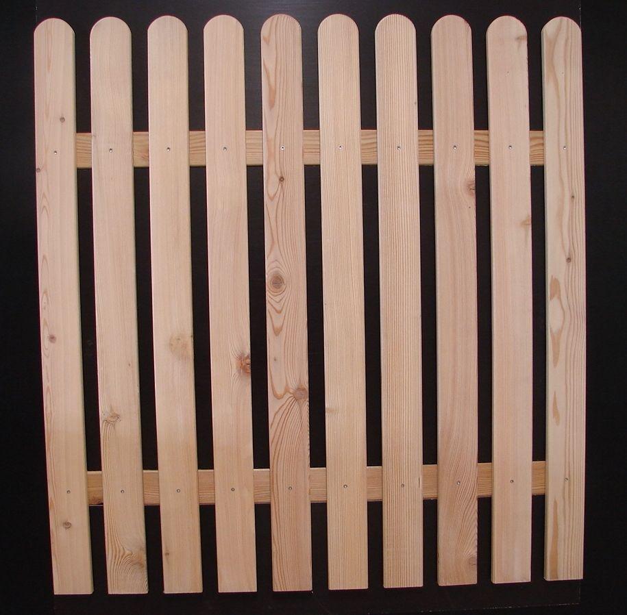 Details zu Zaunlatte Gartenzaun Holzzaun Rundbogenlatte Nr 11 in