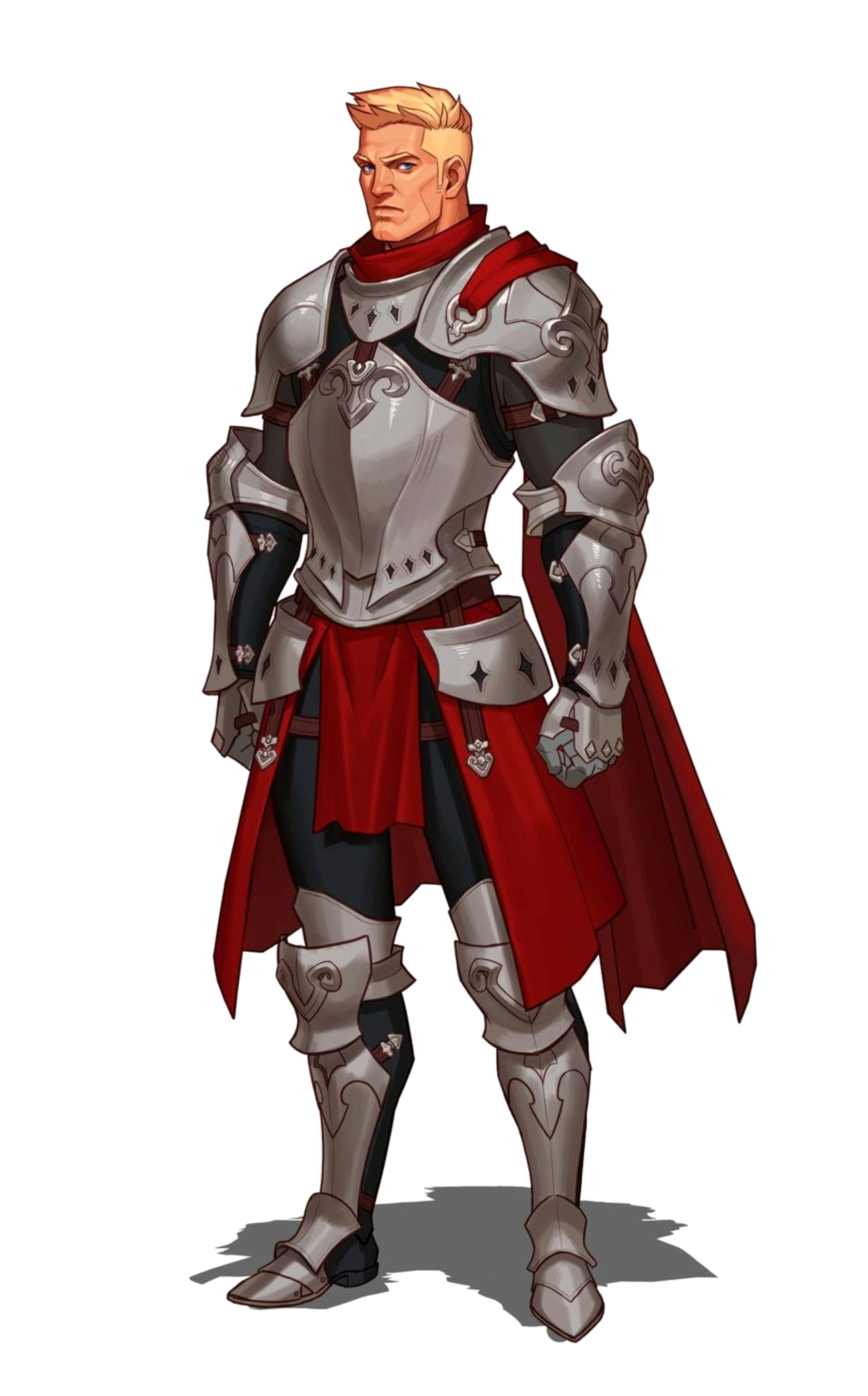 Male Human Fighter Knight Cavalier Paladin in Plate Armor