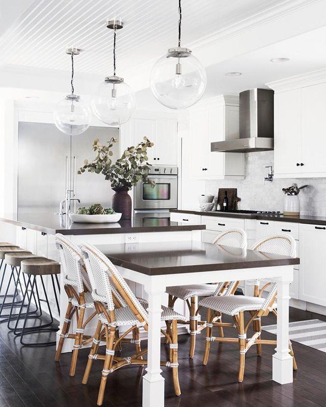 30 Brilliant Kitchen Island Ideas That Make A Statement: Serena & Lily Riviera Side Chair