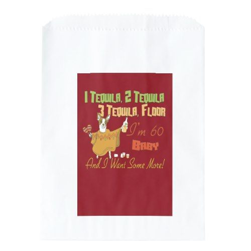 Tequila 60th Birthday Party Collection Favor Bag