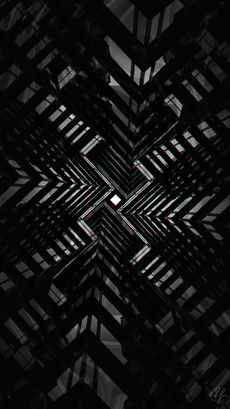 Free Abstract Black & White iPhone Wallpaper, screensaver