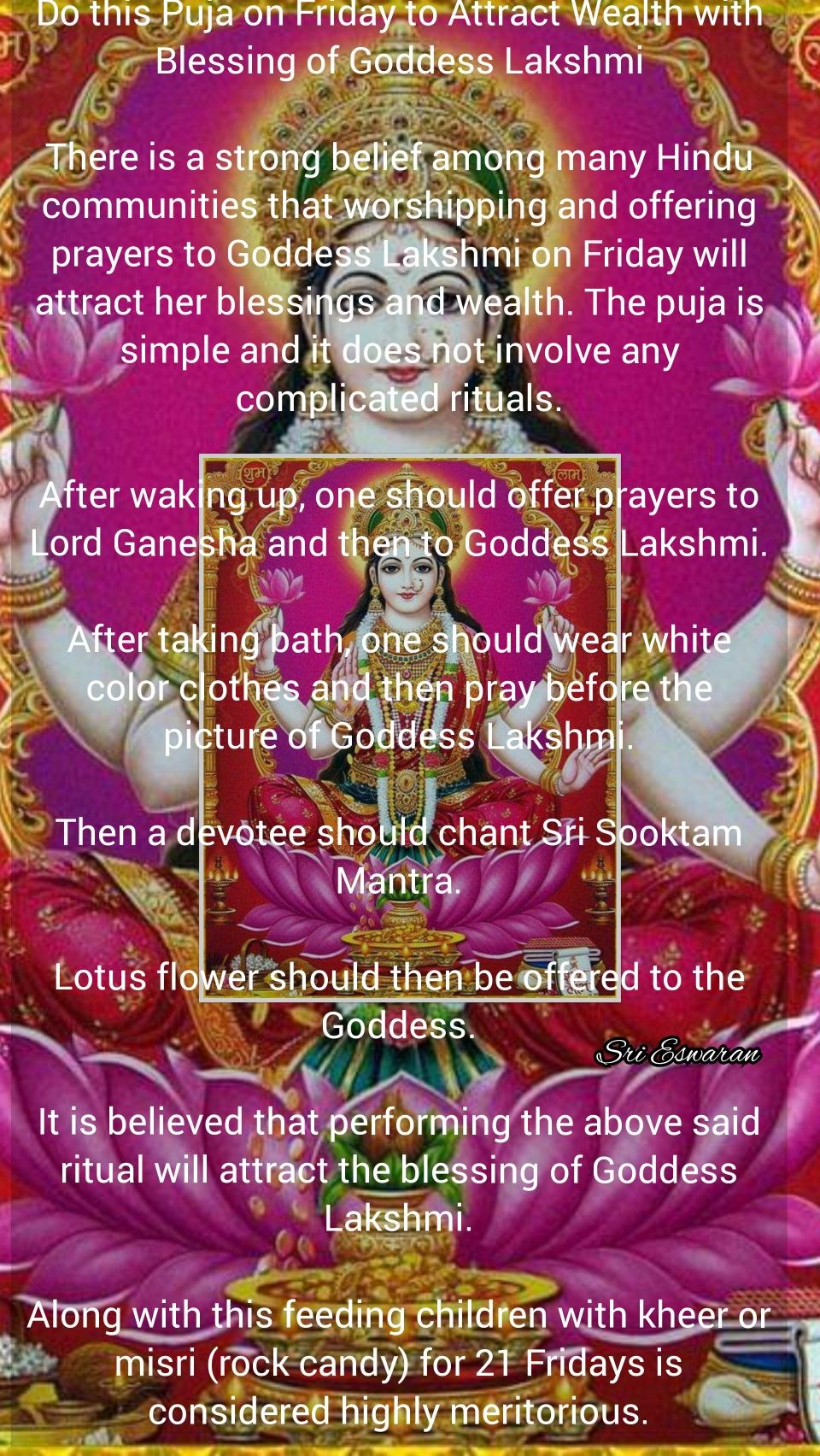 Do this Puja on Friday to Attract Wealth with Blessing of