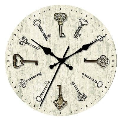 19.99 Threshold™ Wall Clock with Antique Keys