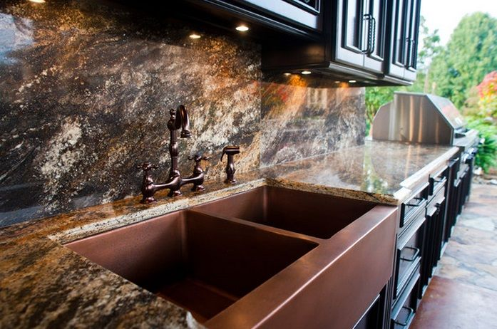 outdoor copper kitchen ~ double copper farmhouse sink - Home ...