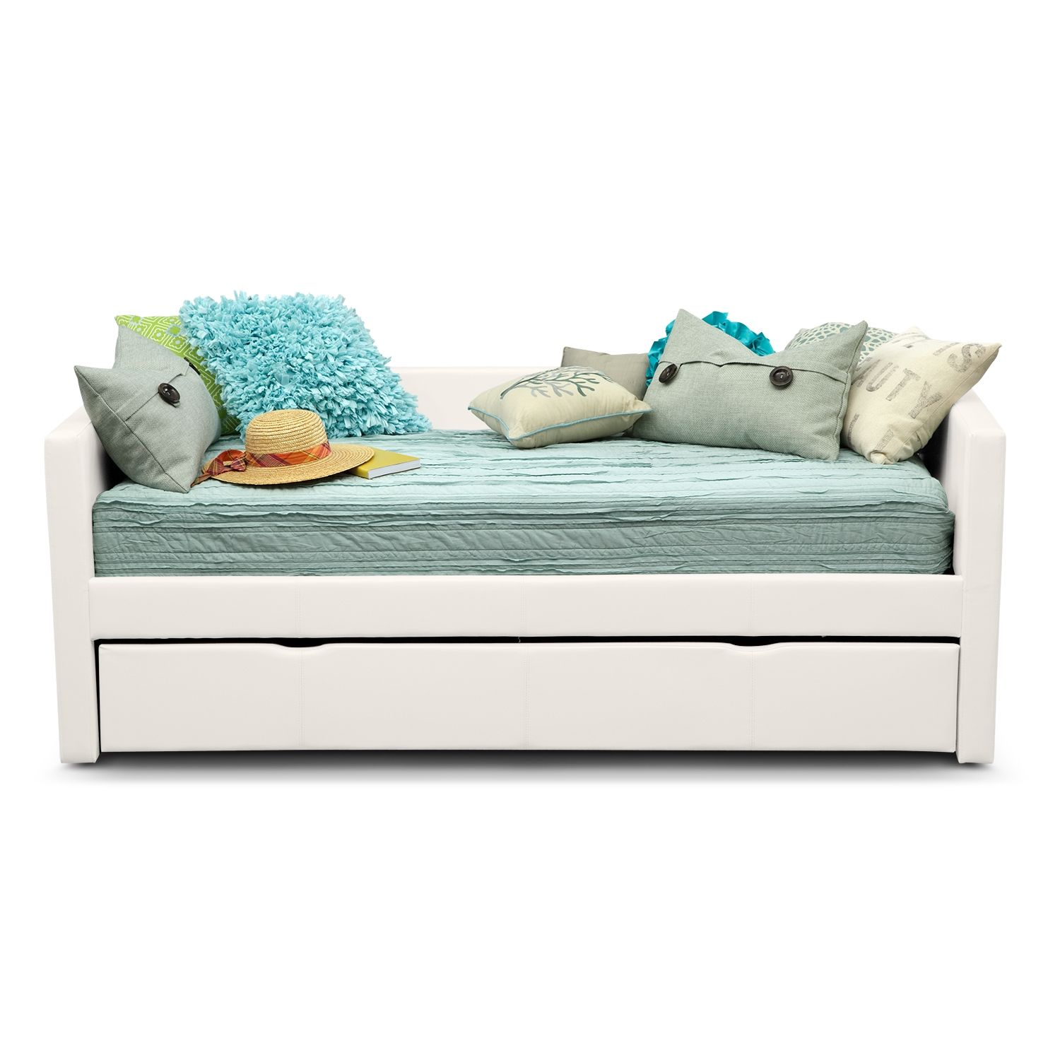 American Girl Curlicue Trundle Day Bed Includes Blue