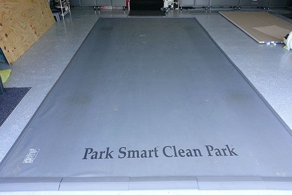 Garage Floor Mat, Park Smart Special Edition Clean Park