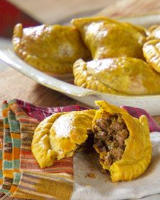 """Uncooked patties can be stored in the freezer and go straight into the oven when ready to use; they bake in just 15 minutes.    From the book """"Lucinda's Authentic Jamaican Kitchen,"""" by Lucinda Scala Quinn (Wiley)."""