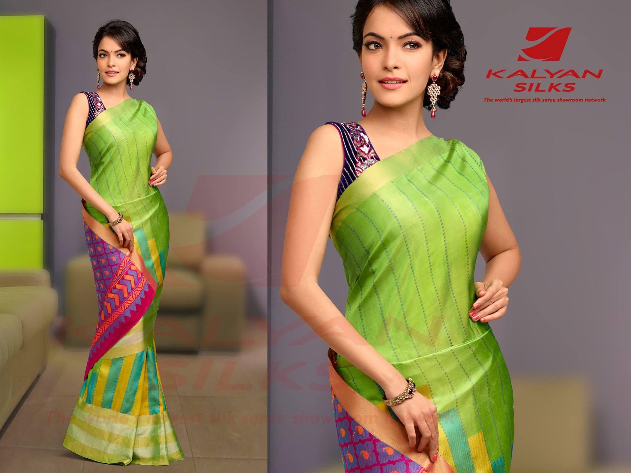 5e827b3c1 (95) Kalyan Silks - Saree Color : Green Saree Fabric : Soft Silk Saree.