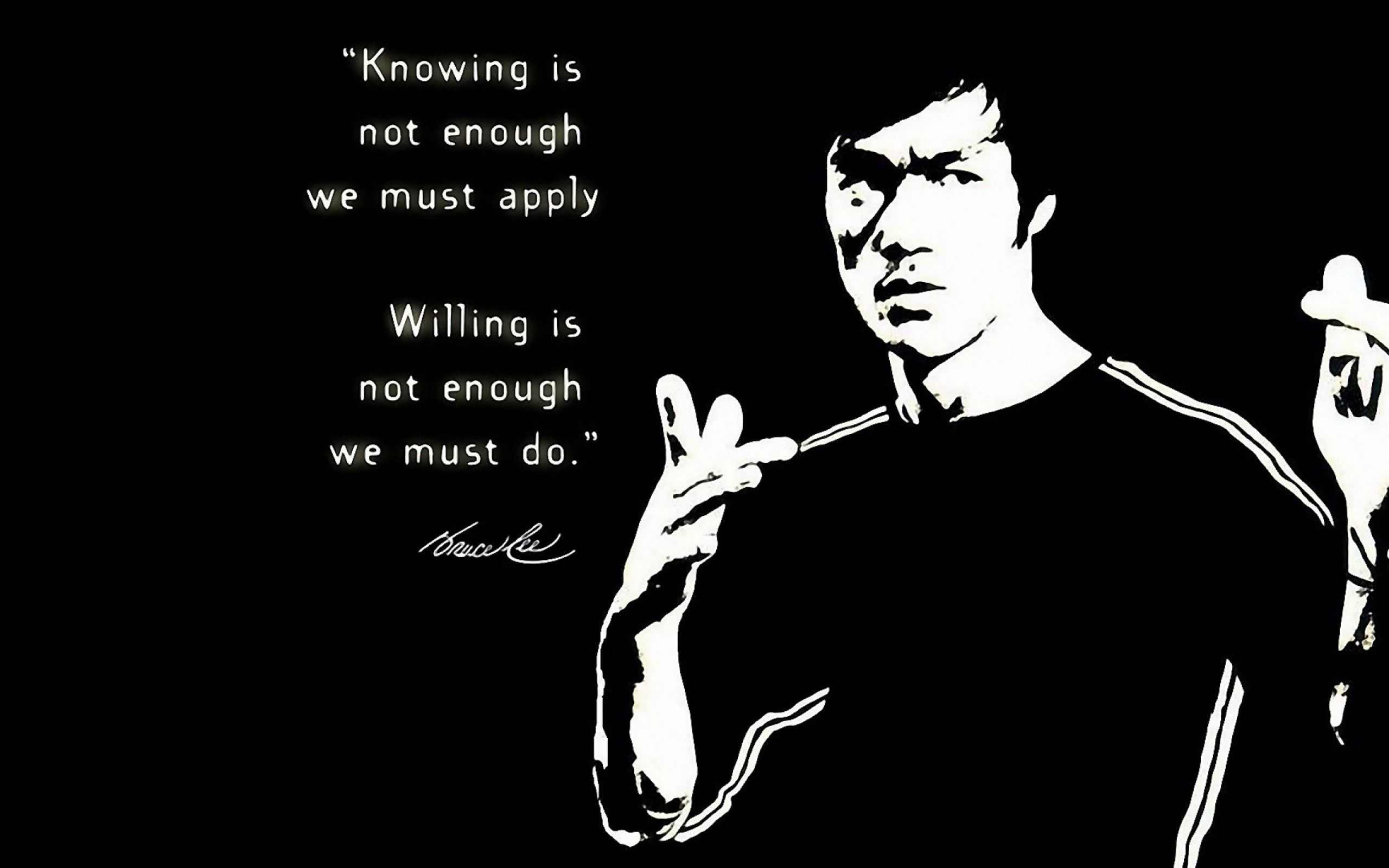 Bruce Lee Quotes Wallpaper Hd 2802 Desktop Computer Gadget And