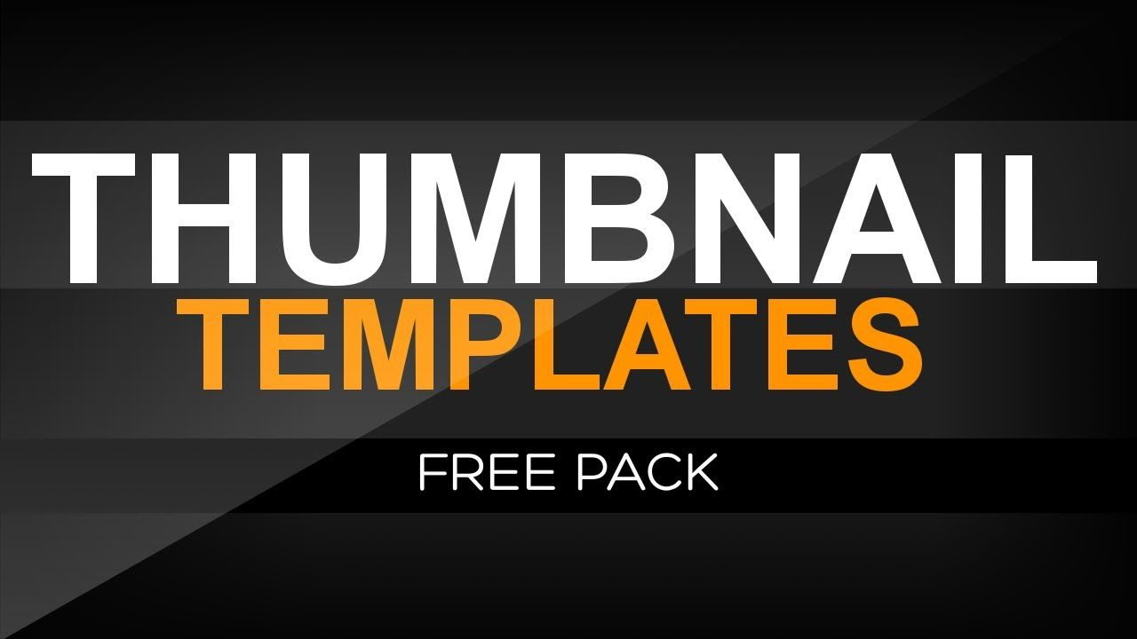 Free Thumbnail Templates Pack Youtube Thumbnail Template Youtube Thumbnail Youtube Design