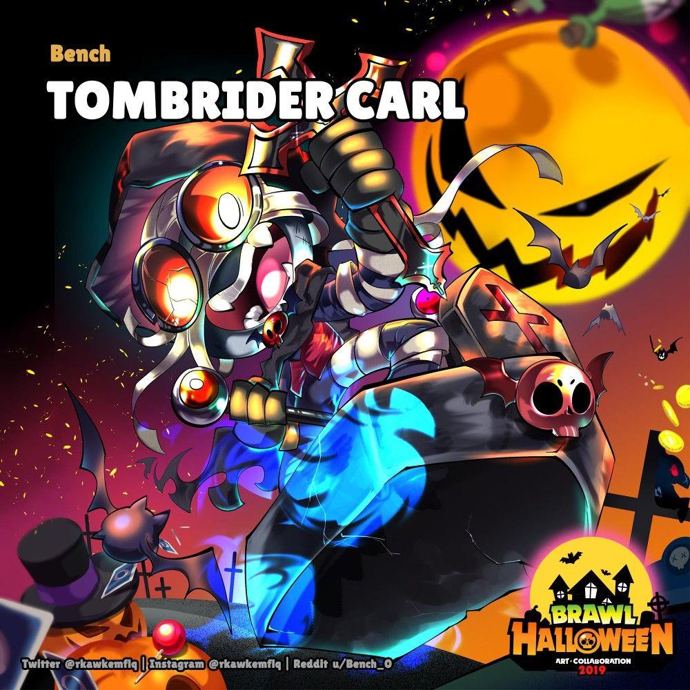 [Brawl Halloween] Tombrider Carl by rkawkemflq (Twitter
