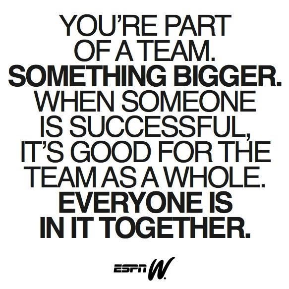 We're All In This Together Baseball Mom Pinterest Team Quotes Awesome Inspirational Team Quotes