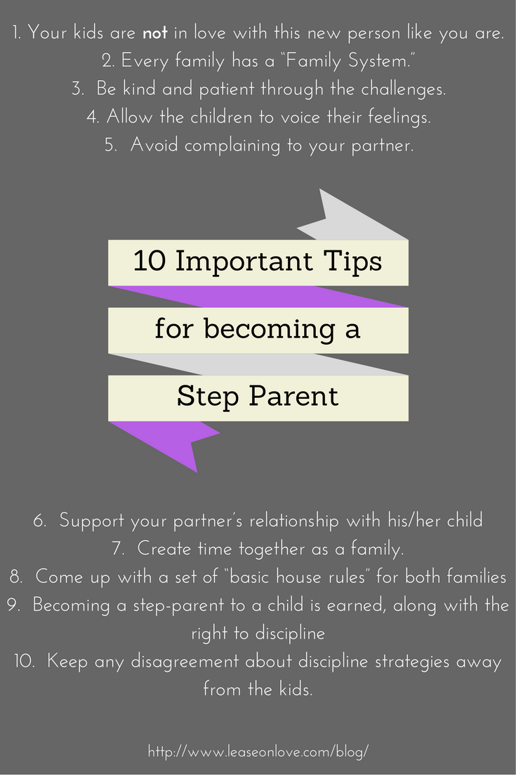 10 Tips to Becoming a better Step parent. #parenting #stepfamily #stepmom  #stepdad #marriage #advice #remarriage #blended family
