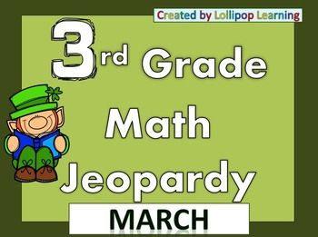 3rd Grade Jeopardy (March) | Common Core Standards, Mathe und St ...