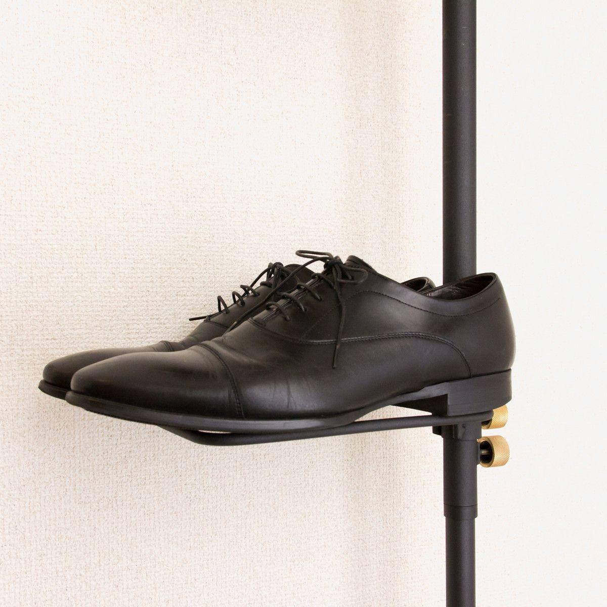 シューラック 1本の線 に 靴や傘を収納できる つっぱり棒 Draw A Line 靴 傘 家の鍵