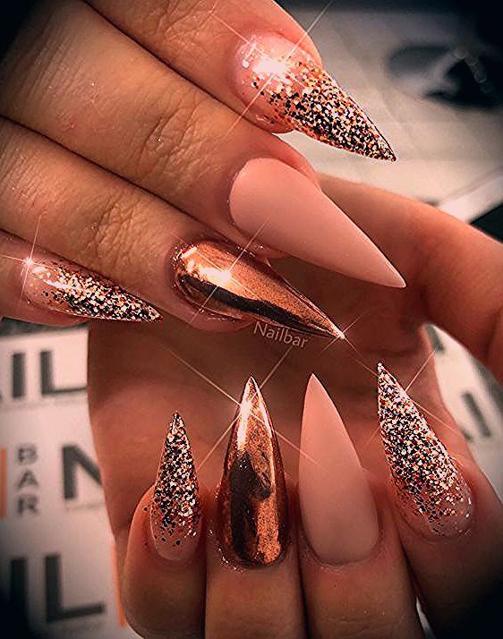 Photo of 51 Stylish Acrylic Nail Designs for New Year 2019