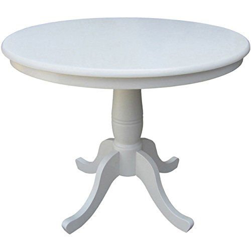 Country Style Inch Wood Round Top Pedestal Base Dining Table - 36 inch oval dining table