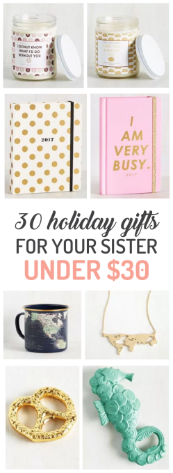 30 holiday gift ideas for your sister under 30 society19