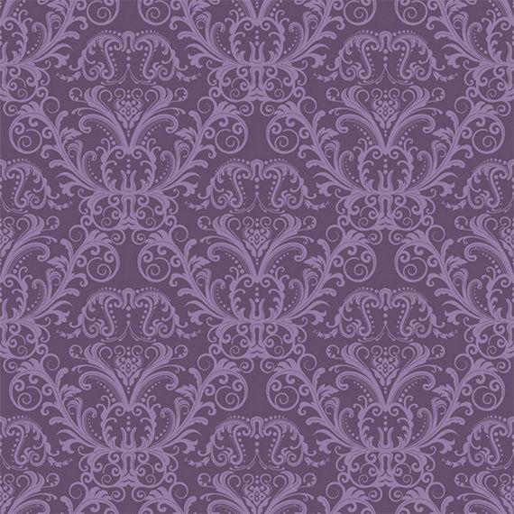 Fancy Damask Purple Backdrop, Damask Wallpaper Backdrop ...