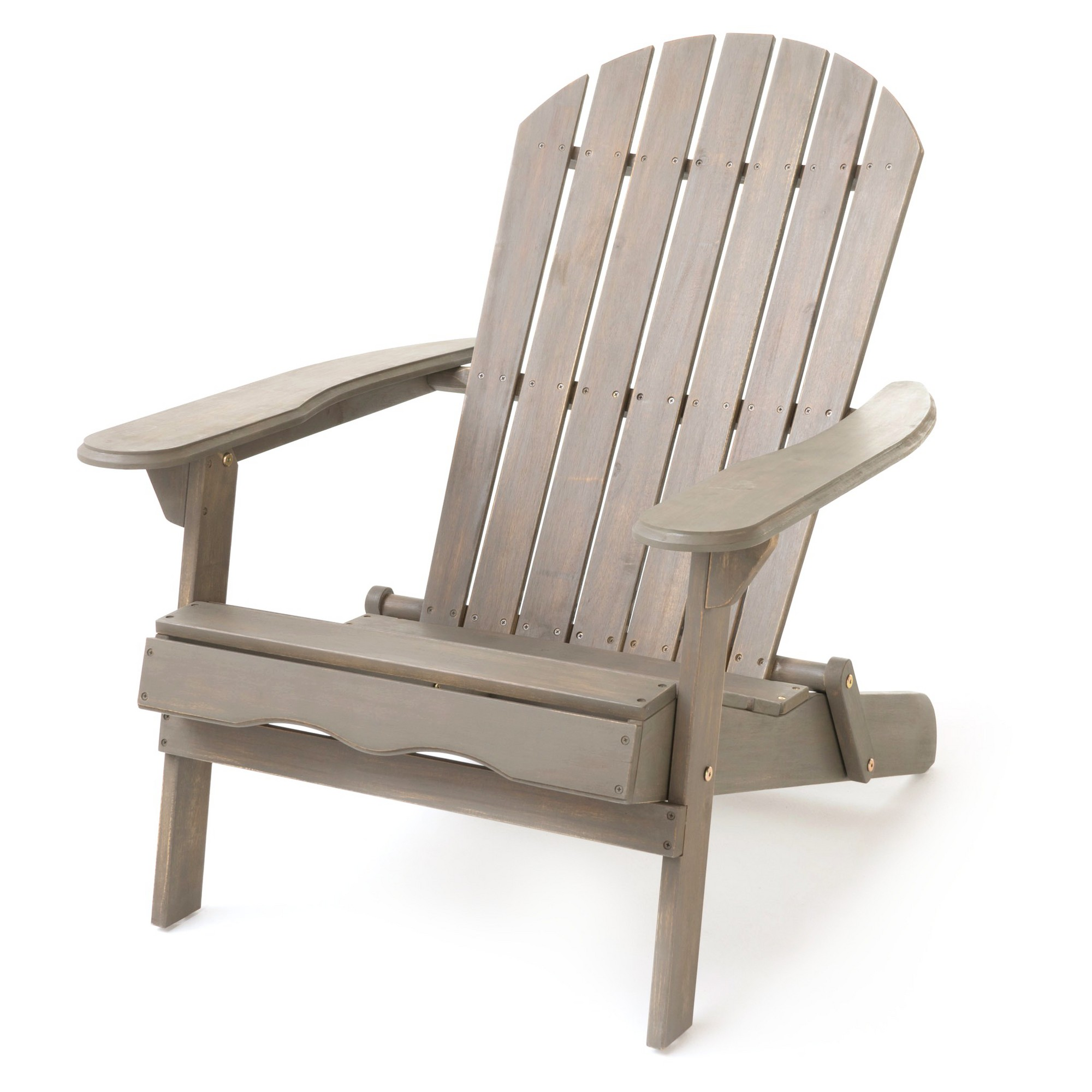 Remarkable Hanlee Folding Wood Adirondack Chair Gray Finish Gamerscity Chair Design For Home Gamerscityorg