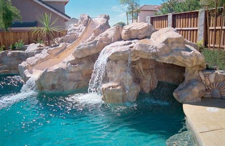 Ten Affordable Swimming Pool Grotto Designs In Pictures For Your Backyard Pool Waterfall Pool Water Features Affordable Swimming Pools