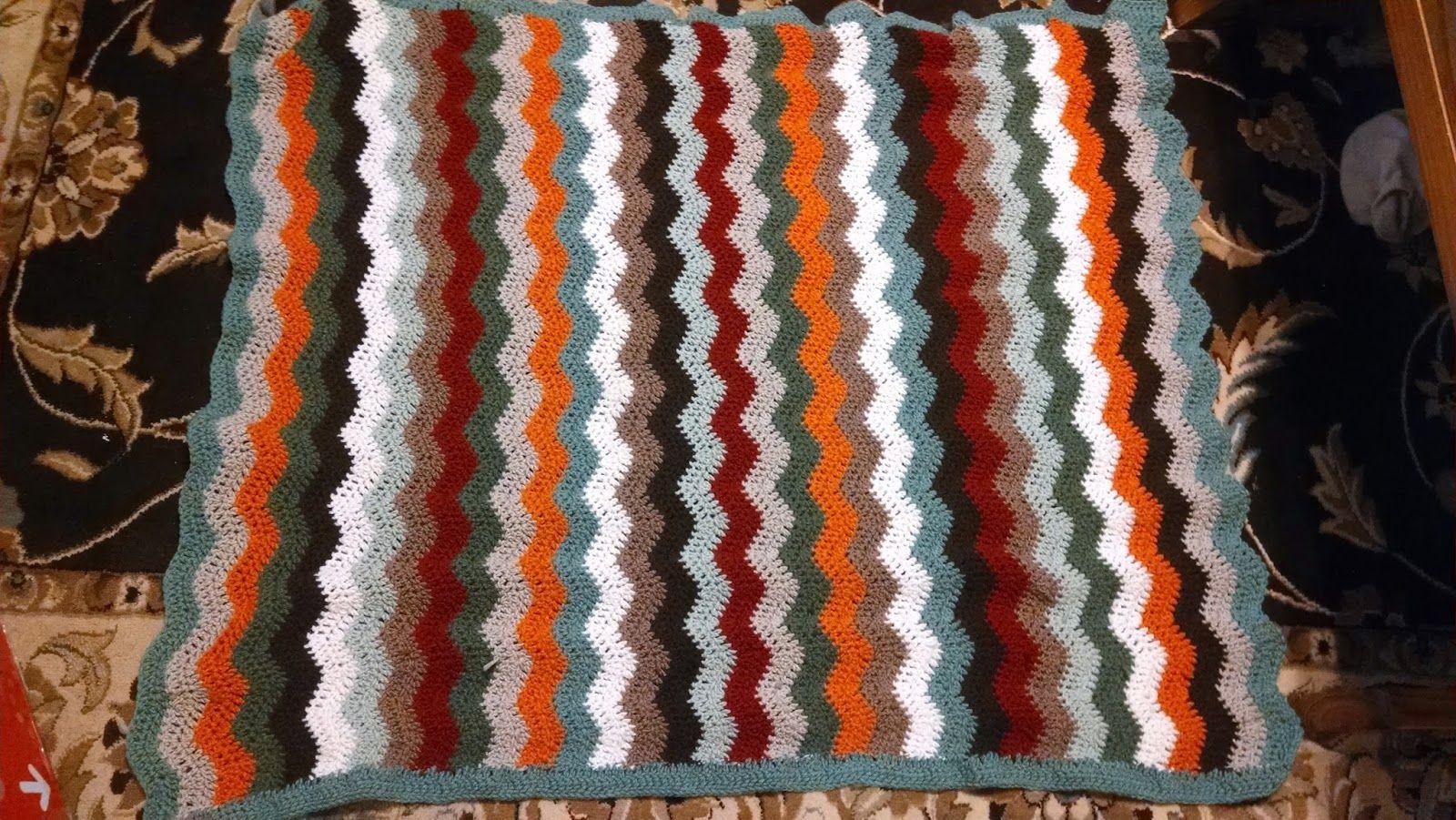 Stroller blanket made of Leftover Yarn