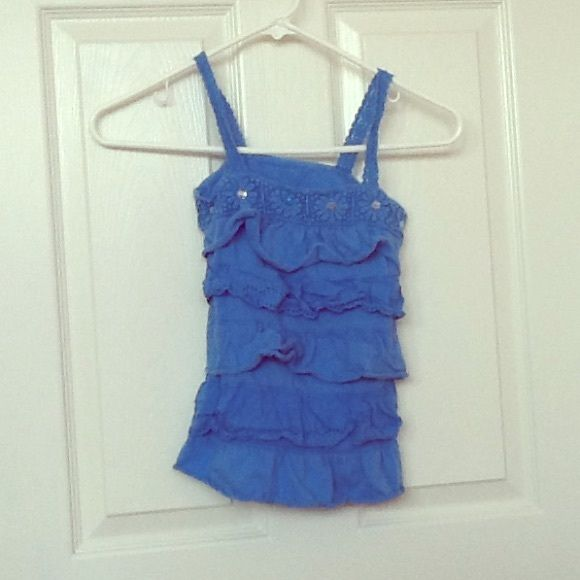 Justice blue top Cute and fun Justice top. Justice Tops
