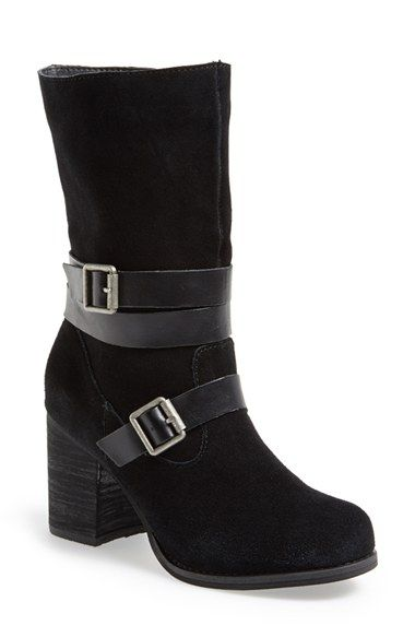 Sbicca 'Windmill' Suede Boot (Women) Black Size 7 M on Vein -