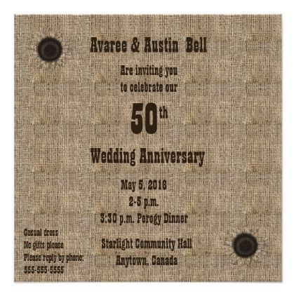 casual 50th anniversary party