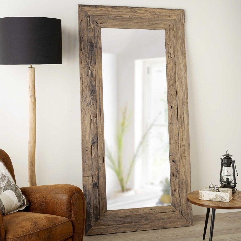 Specchio In Tek Riciclato 100x200cm | Maisons Du Monde