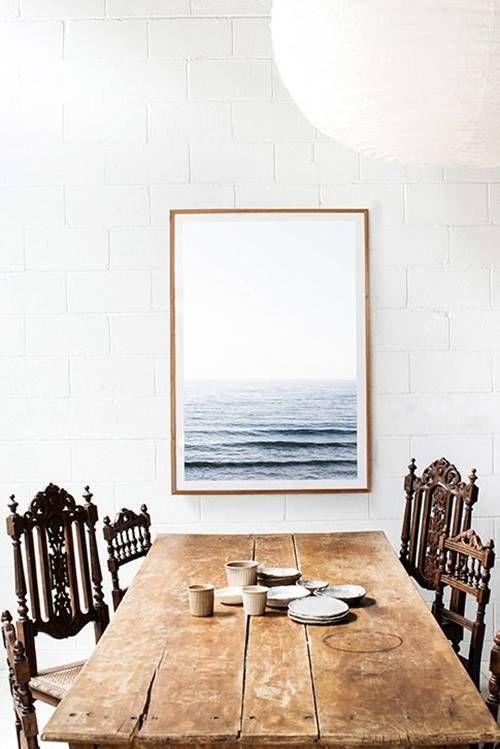 bright whites + rustic decor