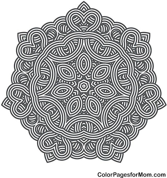Adult Mandala Coloring Page For Stress Relief Mandala 36