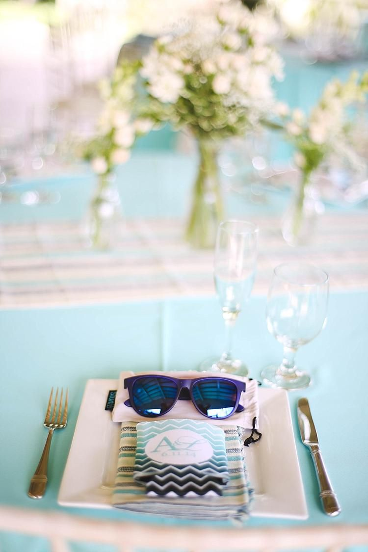 Sunglasses + custom coozies, Hawaii destination wedding favors + ...